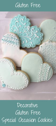 Decorated GLUTEN FREE Cookie  Perfect for a bridal shower, baby shower, or any special occasion.  #ad #weddinginspiration #weddingplanning #bridalshowerideas #babyshowerideas #glutenfreerecipes