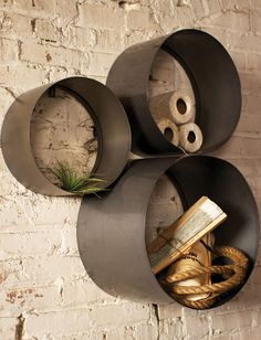 Cylinder Floating Shelf - Set of 3