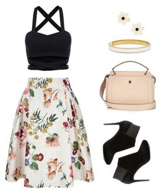 """""""by Gaby"""" by angeli-cn ❤ liked on Polyvore featuring Yumi, Jimmy Choo, Fendi and Kate Spade"""