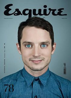 Esquire (Russia). The creepy Elijah Wood cover we've all always wanted.
