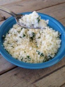 Cilantro Lime Cauliflower Rice- Whole30 and Weight Watchersfriendly