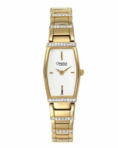 Caravelle by Bulova Women's 45L97 Crystal Accented White Dial Watch Caravelle by Bulova. $129.99. Moisture resistant. Total 56 genuine Swarovski crystals. Quality Japanese-quartz movement. Curved Mineral crystal with Gilt Metalized Rim