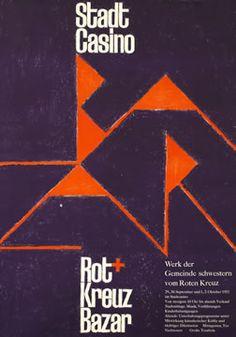 Stadt Casino Rot Kreuz Bazar, 1953 International Typographic style