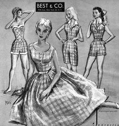 """myvintagevogue: """"Best & Co 1956 """""""