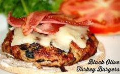 Black Olive Turkey Burgers (needs a couple of easy mods)
