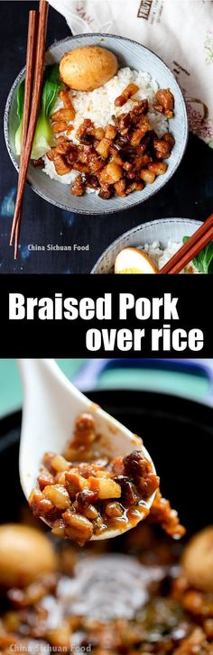 Taiwanese Lu Rou Fan--braised pork over rice #luroufan