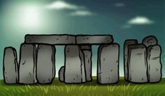 how to draw the stonehenge, Stonehenge. √ Done