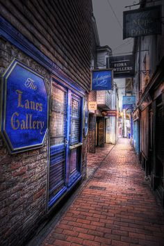 The lanes in Brighton, Sussex, UK are a maze of little lanes with many antique shops, restaurants and small independent shops. #Brighton