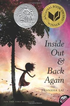 Inside Out and Back Again by Thanhha Lai    A MUST read!  The story is based on the life of the author or as she said...it's a bit of an exaggeration!  This story is beautifully written in prose form and would make a great small group read or read aloud along with the book A  Long Walk to Water by Linda Sue Park.  Both books are about children escaping their country during war. One during the fall of Saigon and one during the Sudan war.