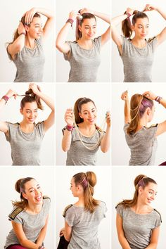 3 Ways to Fancy Up Your Basic Ponytail via Brit + Co.