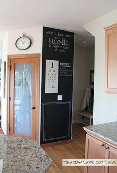 Kitchen Chalk Board Wall