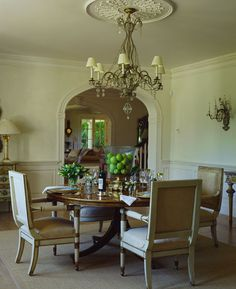 DR And LR Off Hall Entry With Arched Doorways; Round DR Table!