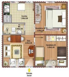 Diversas opções de plantas de casas populares podem ser encontradas na internet com muita facilidade. Geralmente com poucos cômodos e pequenas, as casas populares são bem procuradas principalmente para programas sociais.