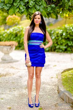 DIY Blue Party Dress Crimenes de la Moda