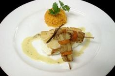 Recipe: Chilean Sea Bass with Plantain Skewers from Oceania cruises #cruiselinerecipes