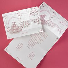 Pink and Green Gardens - Invitation - Quinceanera Invitations - Quinceanera Ideas