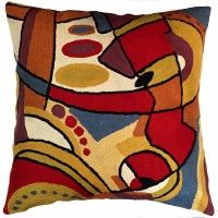 Contemporary Pillows – Miro Musical Accent Pillow Cover   #topanienpdx #miro #pillowcover #wool