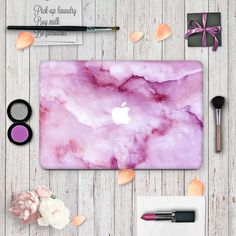 Macbook Skin Decal Sticker - Purple Marble Macbook Decal, Macbook Air Pro, Macbook Case, Hp Laptop Skin, Mac Laptop, Laptop Case, Macbook Pro Touch Bar, Kids Magnets, Purple Marble