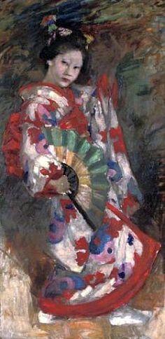 """The Dance of the Geisha"" - Edward Atkinson Hornel"