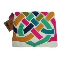 handmade khaymia (hand-sewn) clutch with abstracted Islamic patterns.  made by Karma from Egypt