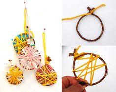 41 идея для нового года. Изображение №23. Xmas Crafts, Diy And Crafts, Crafts For Kids, New Years Decorations, Tree Decorations, Wool Thread, Christmas Love, Christmas Ideas, Xmas Tree