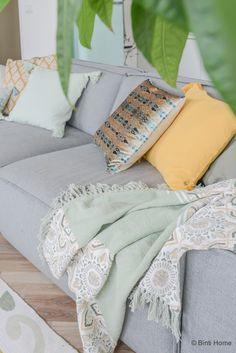 WOWN! by Binti Home cushions okergeel mintgroen Kwantum ©BintiHome