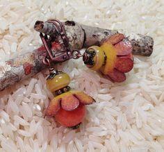 by Sheri Mallery,  Handmade artisan vitreous enamel earrings by SheriMalleryHandwork