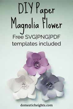 DIY Paper Magnolia with Free Templates Free paper magnolia template with tutorial. How to make paper magnolia flowers. Paper Flower Wreaths, How To Make Paper Flowers, Giant Paper Flowers, Paper Roses, Fabric Flowers, Diy Wall Flowers, Paper Garlands, Fake Flowers, Beautiful Flowers