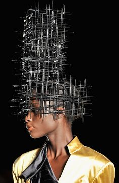 philip treacy - headgear for the architecturally inclined or a high-rise Halloween costume