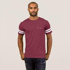 4TEN Burgandy Arm Striped T-Shirt - stylish gifts unique cool diy customize