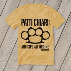 T-Shirt Graphic Design: Patti chiari!