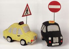 Taxi.  Anne-Claire Petit - Crochet: Animals, Toys, Baby Gifts, Fashion and Home Accessories, Hand Made Design