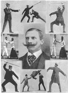 """Edward William Barton-Wright invented Bartitsu, """"the gentlemanly art of self defence"""" - the forerunner to mixed martial arts encompassing jujitsu, boxing, savate and stick fighting - at the turn of the century. Kyokushin Karate, Judo, Jiu Jitsu, Mma, Combat Rapproché, Victorian Gentleman, Art Of Manliness, Mixed Martial Arts, Hema Martial Arts"""