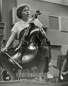 DU PRÉ , Jacqueline playing the cello , 1962 Aged 17 English Cellist , 1945 1987 At BBC Maida Vale Studios , playing for a broadcast concert...