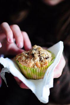 Muffins aux pommes, crumble chocolat - La popotte de Manue