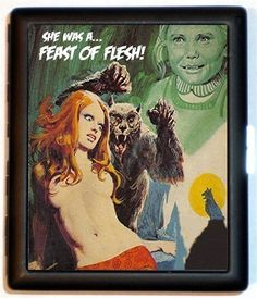 Werewolf Victim Cigarette Case She Was a Feast of Flesh PUNK Rock Psychobilly Wallet Business Card Case, Business Card Holders, American Werewolf In London, Christmas Stocking Stuffers, Psychobilly, Horror Movies, Geek Stuff, Cigarette Case, Monsters
