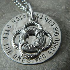 Watch over the ones who guard our coasts.. Coast Guard Necklace