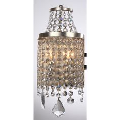 Zeev Lighting WS70008/2/SL-AG-V Palais 2 Light Wall Sconce in Silver Coil