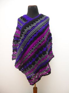 Hey, I found this really awesome Etsy listing at https://www.etsy.com/listing/169287038/poncho-crochet-womens-ponchos-boho-chic