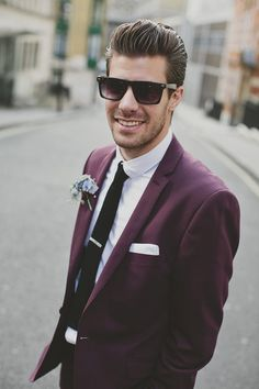 30s Style London Wedding With Bride In Eden By Jenny Packham And Groom In The Kooples Suit. Image by John Day #groomsmen