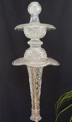 Clear Glass Garden Totem Sunday Best by GardenGlasscapes on Etsy, $35.00