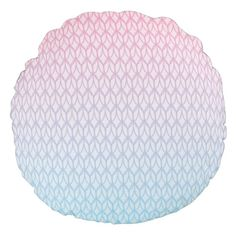 Hot Pink Blue Gradient Oval Pattern Round Pillow #pink #blue #pattern #oval #gradient #girly #trendy #white #oudeen #geometric #aztec #abstract #colorful #modern #whimsical #accessories #design #gift