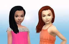 The Sims 4   My Stuff: EP02 Get Together Box Braids Side Hairstyle Converted for Girls   natural hairs for female child