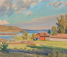 Ali Munsterhjelm (1873-1944), Arcipelago landscape, n.d.    oil on canvas, 45 x 53 cm