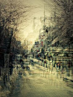 German photographer Stephanie Jung did a series of photos in multiple exposure of different cities in Japan. A few photos of the same place but in different tim Cityscape Photography, Urban Photography, Street Photography, Landscape Photography, Nature Photography, Double Exposition, Exposition Multiple, Serge Najjar, Multiple Exposure Photography