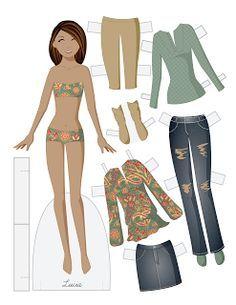 fashion paper dolls template - Google Search