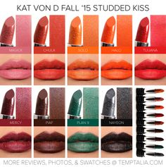 Sneak Peek: Kat Von D Fall 2015 Studded Kiss Lipsticks Photos