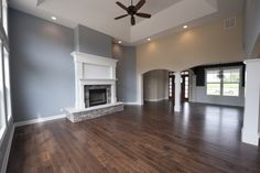 The Great Room inside a Custom Plan by Steiner Homes.