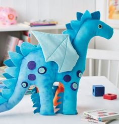 Nigel the Dragon Toy - free pattern More
