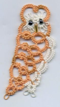 Barn Owl by Jane Eborall with  free tatting pattern download. ... Tatting and not a lot else!: It's all Sally's fault!